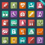 Link toFlat hospital icon vector