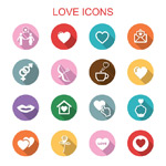 Link toFlat love icons vector