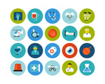 Link toFlat medical icons vector