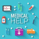 Link toFlat medical topics vector
