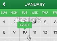 Link toFlat mini calendar