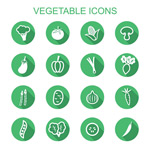 Link toFlat vegetable icons vector