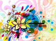 Link toFloral background image design vector free