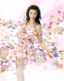 Link toFloral beauty fan bingbing psd