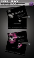 Link toFloral black business card