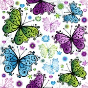 Link toFloral butterflies seamless pattern vector set 01 free