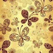 Link toFloral butterflies seamless pattern vector set 03 free