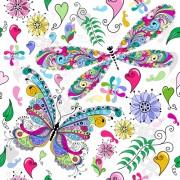 Link toFloral butterflies seamless pattern vector set 04 free
