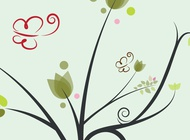 Link toFloral butterfly vector background free
