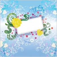 Link toFloral design vector background