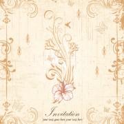 Link toFloral elegant invitation cards vector set 02 free