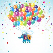 Link toFloral elephants with happy birthday background vector 04 free