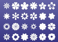 Link toFloral icons graphics vector free