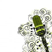 Link toFloral microphone vector free