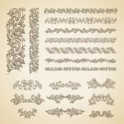 Link toFloral ornaments borders design vector free