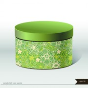 Link toFloral package box cover vector 02 free