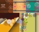 Link toFloral patterns fold backgrounds vector