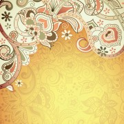 Link toFloral patterns retro style background 01 vector