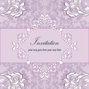 Link toFloral retor invitations background vector 01 free