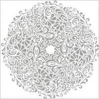 Link toFloral round background vector illustration