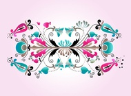 Link toFloral scrolls design vector free