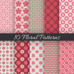 Link toFloral seamless background vector