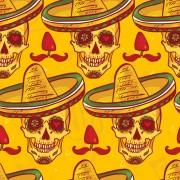 Link toFloral skulls seamless pattern vector set 02 free