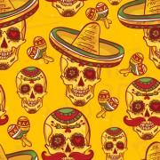 Link toFloral skulls seamless pattern vector set 03 free