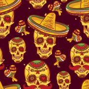 Link toFloral skulls seamless pattern vector set 06 free
