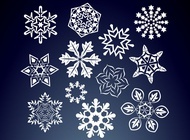 Link toFloral snow flakes vector free