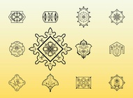 Link toFloral stamps vector free