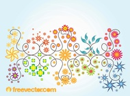 Link toFloral summer vector graphics free