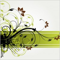 Link toFloral swirl vector background