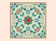 Link toFloral tile vector free