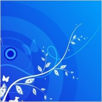 Link toFloral with blue background vector graphic