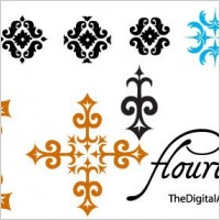 Link toFlourishes free vector pack