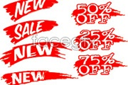 Link toFlow ink sale sale tag vector