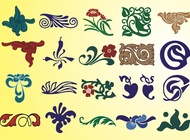 Link toFlower and plant ornaments vector free