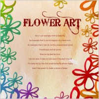 Link toFlower art watercolor pattern background psd layered 4
