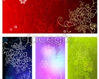 Link tovector cute pattern embossed floral background Flower
