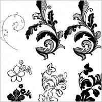 Link toFlower background pattern vector side