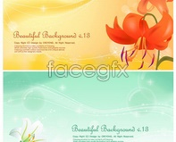 Link tocaptions text card vector background Flower