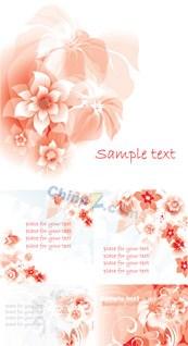Flower background vector design