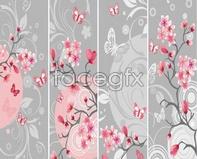 Link tobranches flower vector background Flower