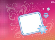 Link toFlower badge sticker vector free