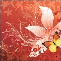 Link toFlower butterfly vector