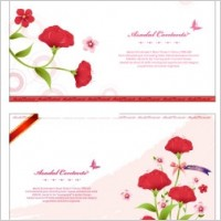 Link toFlower card template vector