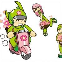 Link toFlower characters vector