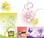 Link toFlower circle element vector