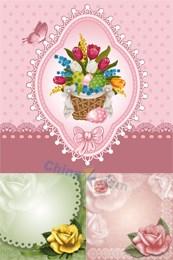 Link toFlower decorative card vector design